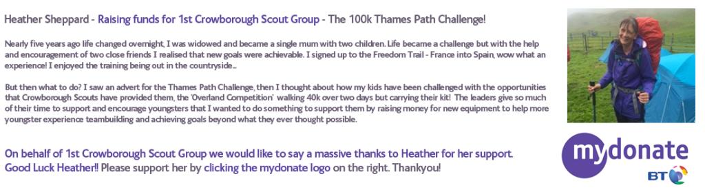 100k Thames path Challenge