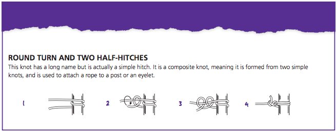How to tie a round turn two and half hitches