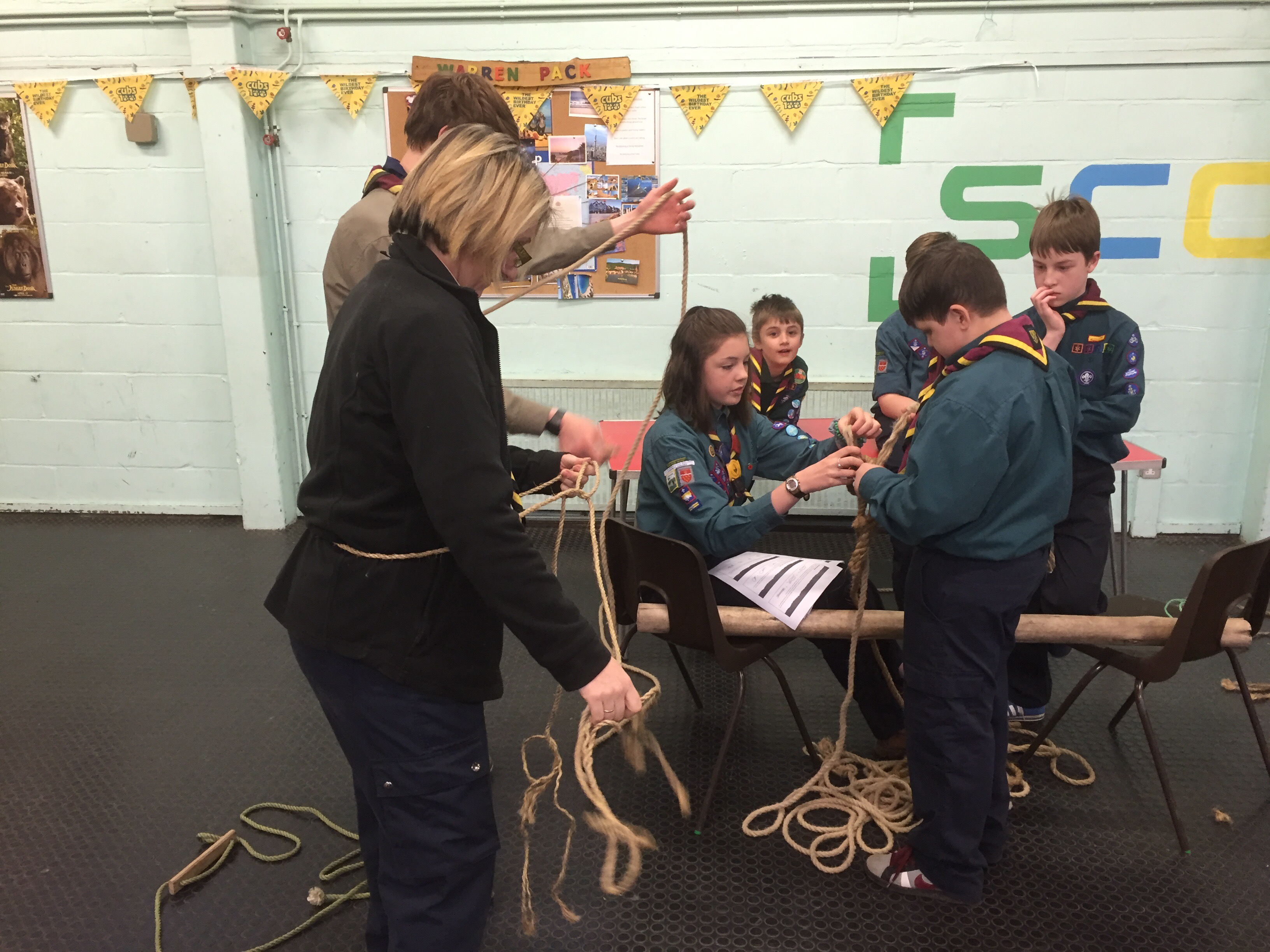 Tonight Southon Scouts Went Back To Basics And Learnt How To Tie Those  Essential Knots Again