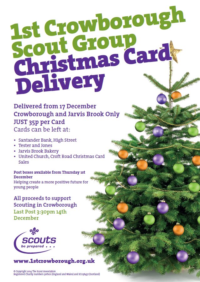 christmas card delivery 2016 1st crowborough scout group